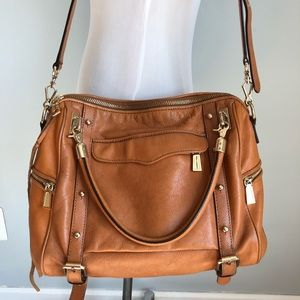 Rebecca Minkoff Cupid Tan with Gold Large Satchel